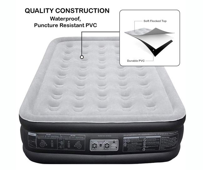 EZ INFLATE Luxury Double High Queen air Mattress