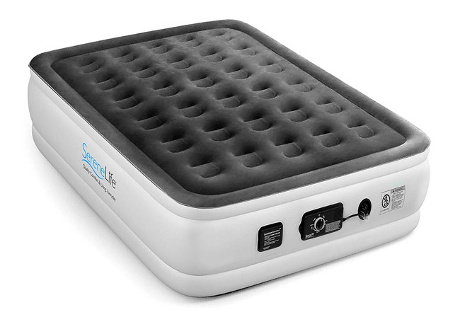 Serene Life Dream Series Air Mattress with Built-in ComfortCoil Technology & Internal High Capacity Pump